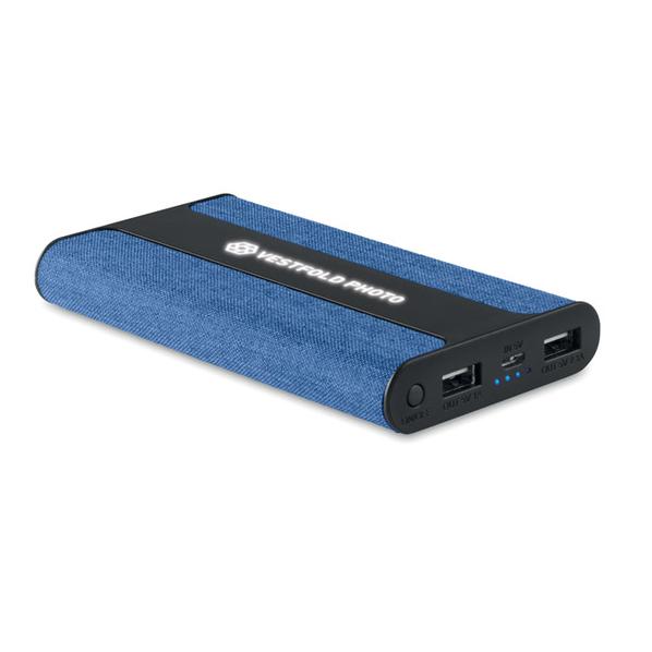 Внешний аккумулятор 6000 mAh, тканевая отделка, синий - фото № 1