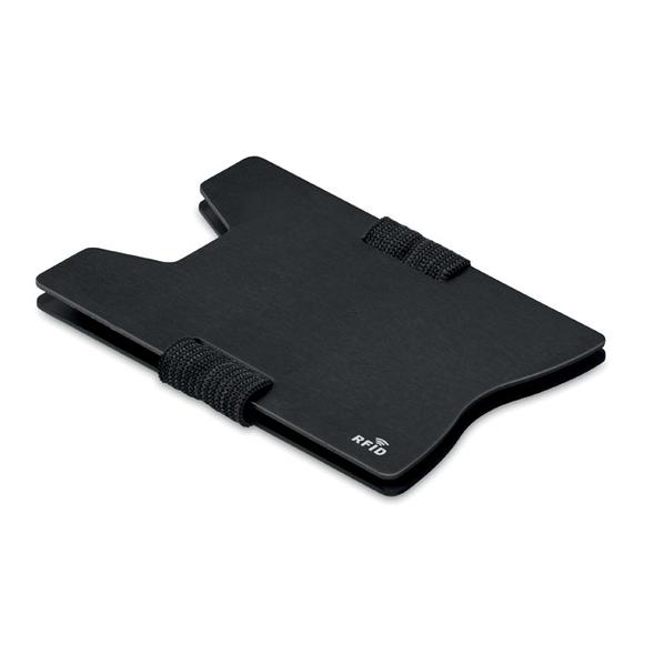 Чехол для карт с RFID, черный - фото № 1