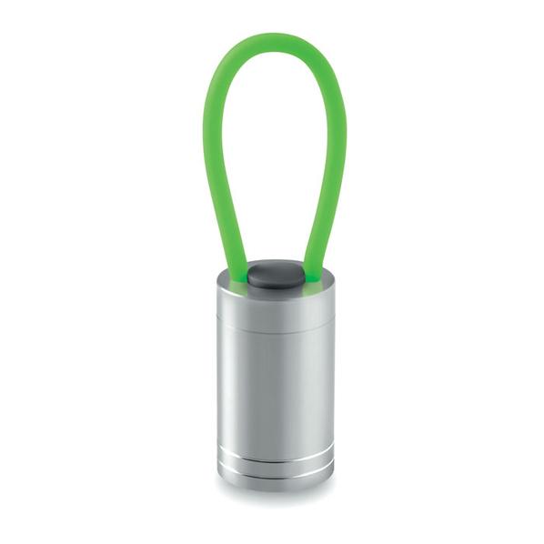 Фонарик алюминиевый, зеленый - фото № 1