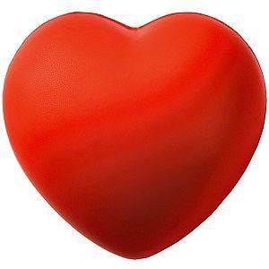 Антистресс «Сердце», 7,6 см, красный - фото № 1