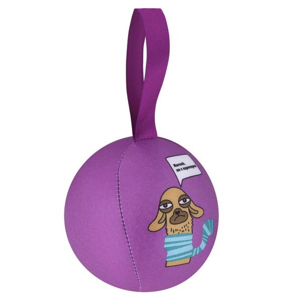 Антистресс шарик с пожеланием Альпака, сиреневый - фото № 1