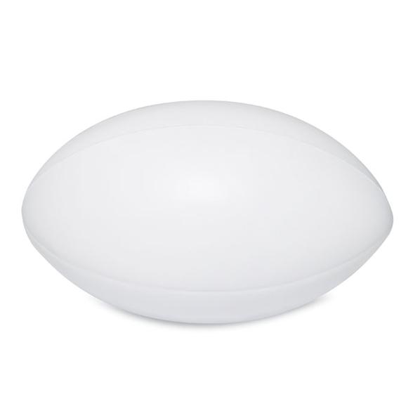 Антистресс Мяч для регби, белый - фото № 1