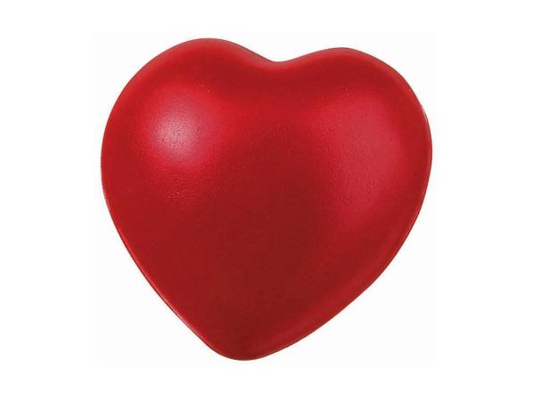 Антистресс «Сердце» полиуретан, красный - фото № 1