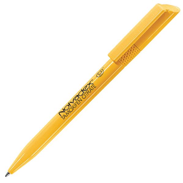 Ручка шариковая пластиковая Lecce Pen Twisty, темно-желтая - фото № 1