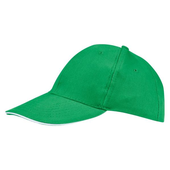 Бейсболка Sol's Buffalo, ярко-зеленая/ белая - фото № 1
