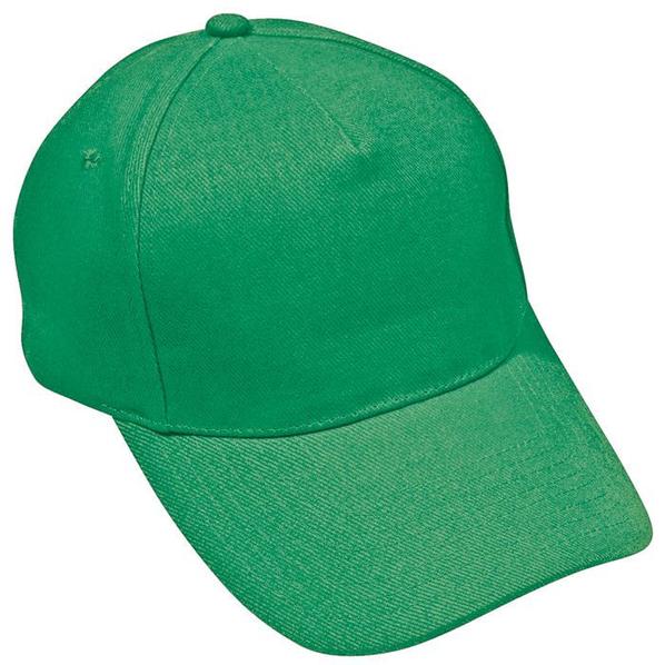 Бейсболка Премиум 5 клиньев, зеленая - фото № 1