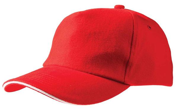 Бейсболка Unit Classic, красная/ белая - фото № 1