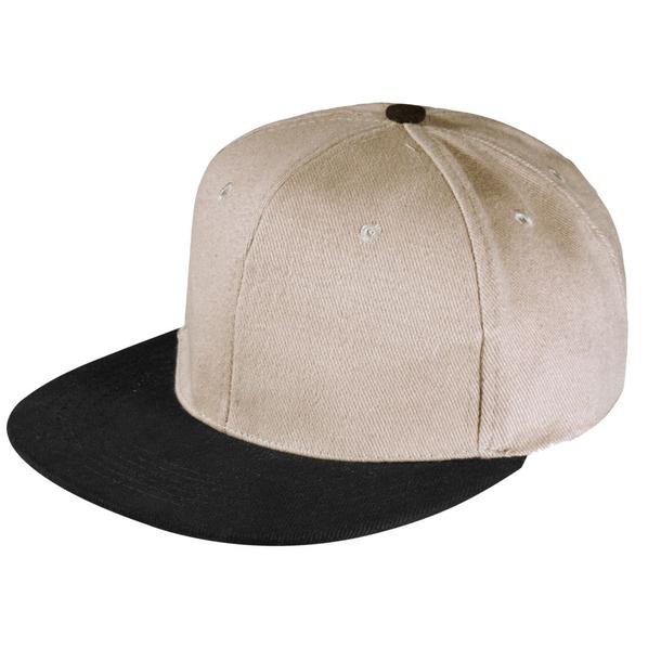 Бейсболка Unit Heat 6 клиньев, плоский козырек, серая/ черная - фото № 1