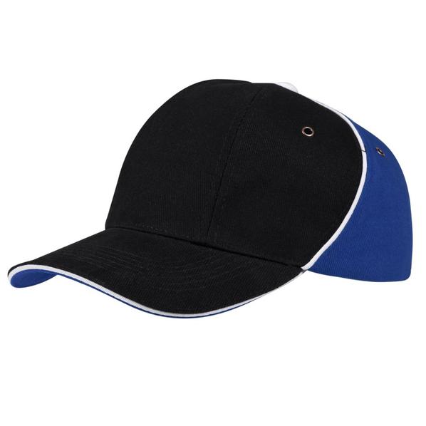Бейсболка Unit Smart, черная/ синяя - фото № 1