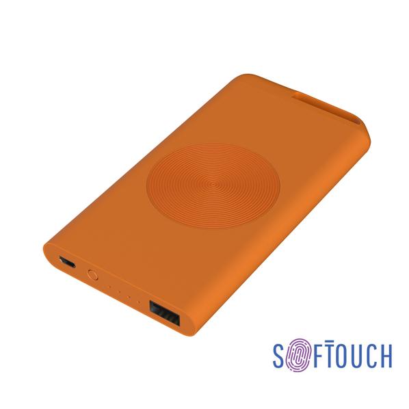 Внешний аккумулятор беспроводной Chili Theta Wireless, 4000 mAh, оранжевый - фото № 1