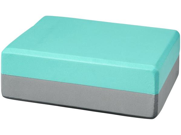 Блок для йоги Lahiri, бирюзовый - фото № 1