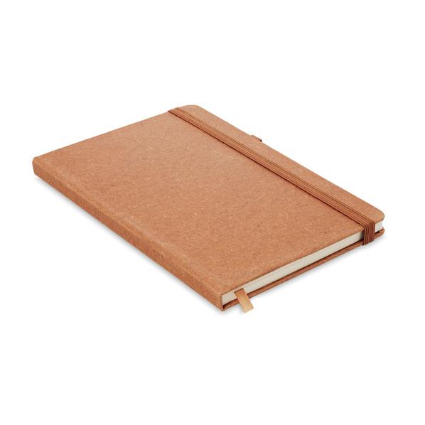Блокнот A5 из ПУ линованный, коричневый - фото № 1