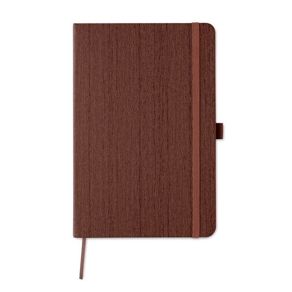 Блокнот в линейку на резинке А5, 80 стр., коричневый - фото № 1