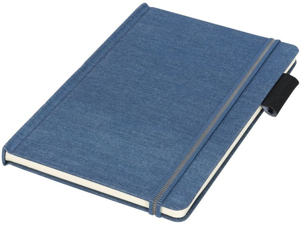 Блокнот в линейку на резинке Journalbooks Jeans А5, 80 листов, синий - фото № 1