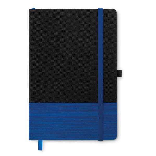 Блокнот линованный на резинке А5, 80 стр., синий - фото № 1