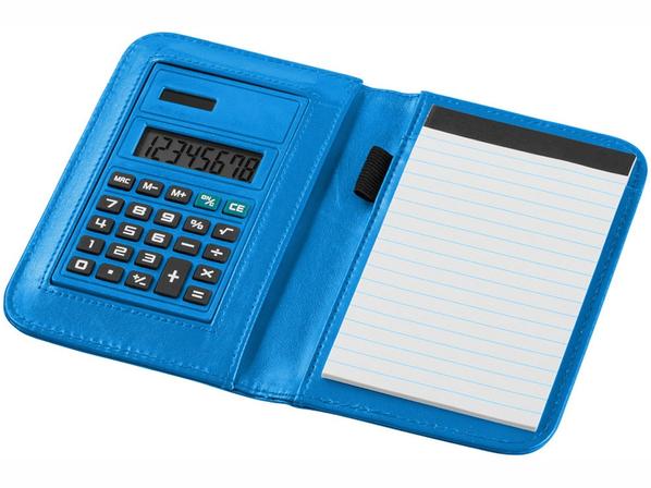 Блокнот с калькулятором Smarti А6, 20 листов, бирюзовый - фото № 1
