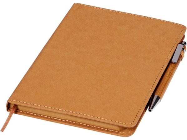 Блокнот Celuk с шариковой ручкой с чёрными чернилами, коричневый - фото № 1