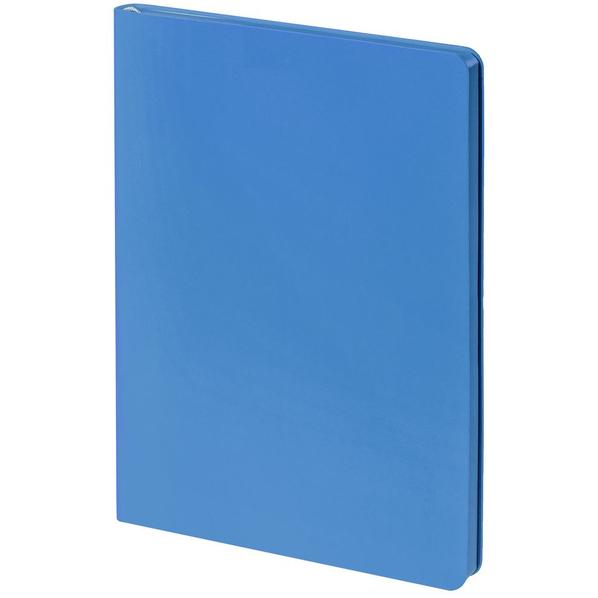 Блокнот нелинованный Контекст Flex Shall А5, голубой - фото № 1