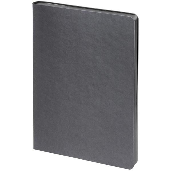Блокнот нелинованный Контекст Flex Shall А5, серый - фото № 1