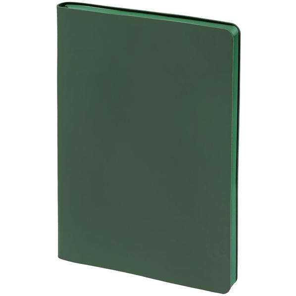 Блокнот нелинованный Контекст Flex Shall А5, зеленый - фото № 1