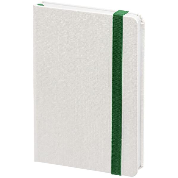 Блокнот нелинованный Контекст Tex, белый / зеленый - фото № 1
