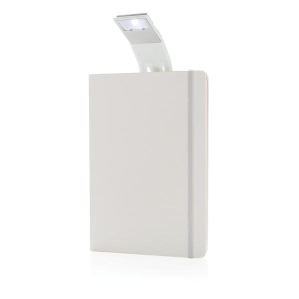 Блокнот для записей в линейку на резинке с закладкой-фонариком XD Collection А5, 72 листа, белый - фото № 1