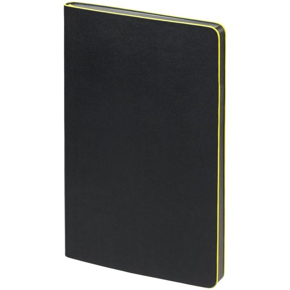 Блокнот Trait в точку, черный/ желтый - фото № 1