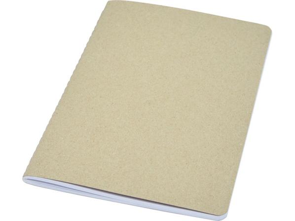 Блокнот из переработанного картона Gianna F5, бежевый - фото № 1