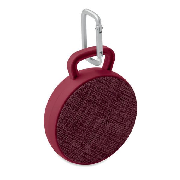 Колонка беспроводная Bluetooth, текстиль, бордо - фото № 1