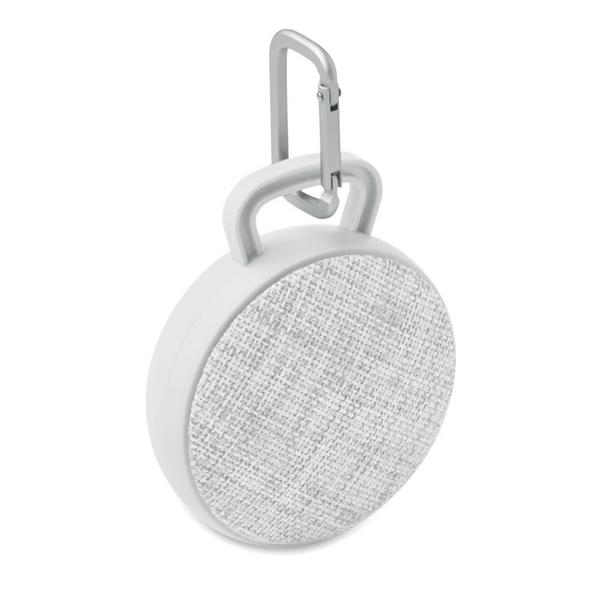 Колонка беспроводная Bluetooth, текстиль, светло-серая - фото № 1