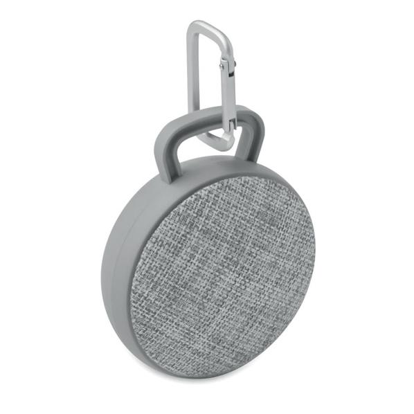 Колонка беспроводная Bluetooth, текстиль, серая - фото № 1