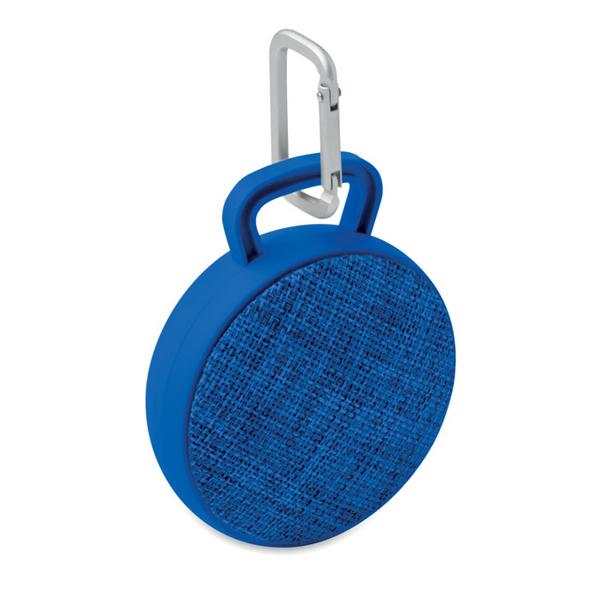 Колонка беспроводная Bluetooth, текстиль, синяя - фото № 1
