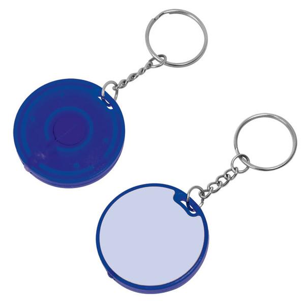 Брелок - фонарик круглый, синий - фото № 1