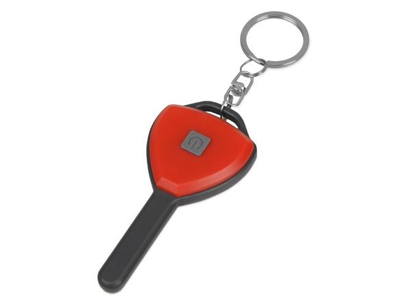 Брелок-фонарик COB Switch, красный - фото № 1