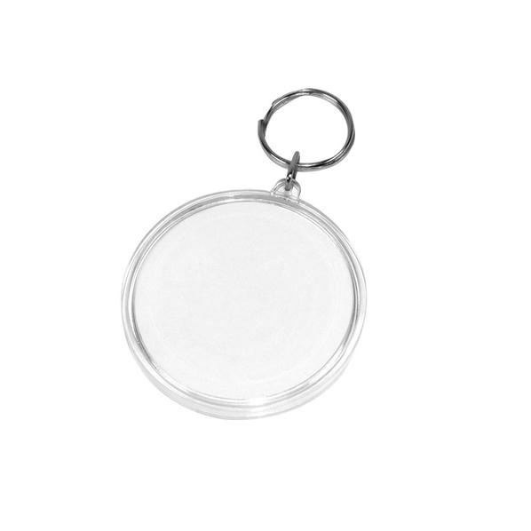 Брелок круглый Лабиринт, белый - фото № 1