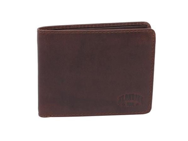Бумажник DIGGER Amos, кожа, коричневый - фото № 1