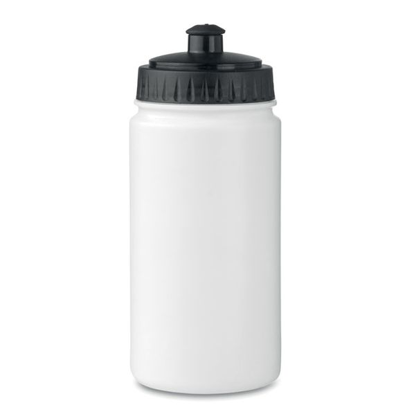 Бутылка 500 мл, белая / черная - фото № 1
