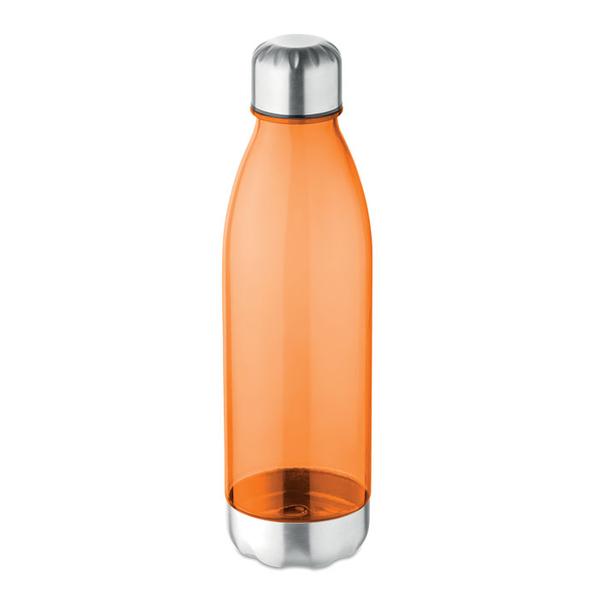 Бутылка для питья 600мл, прозрачный оранжевый - фото № 1