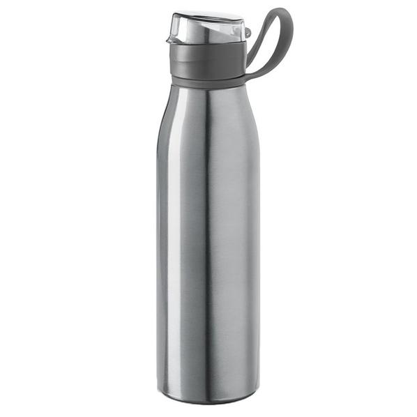 Бутылка для воды алюминиевая Korver, 650 мл, серебристая - фото № 1