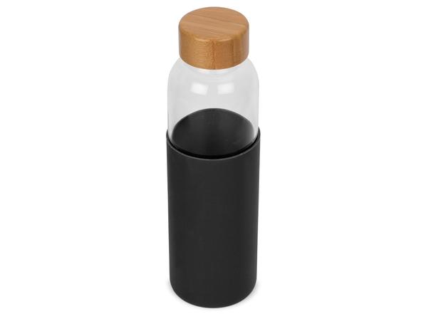 Бутылка для воды Refine в чехле, черная/ светлое дерево - фото № 1
