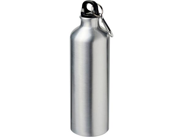 Бутылка для воды с карабином Pacific, 770 мл., металлик - фото № 1