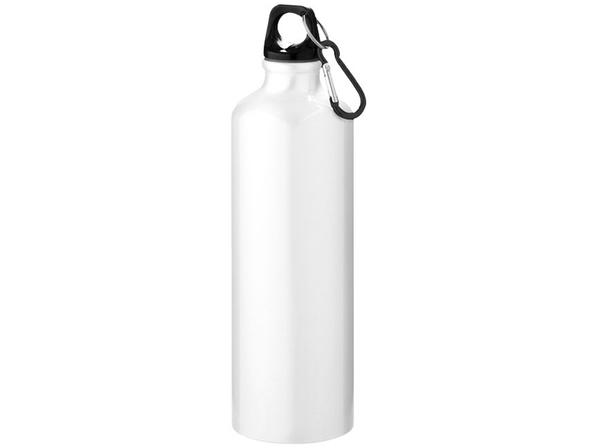 Бутылка алюминиевая с карабином Pacific 700 мл, белая - фото № 1