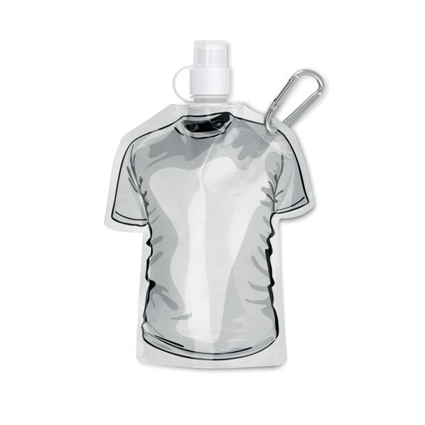 Бутылка складная в форме футболки 450мл, белый - фото № 1