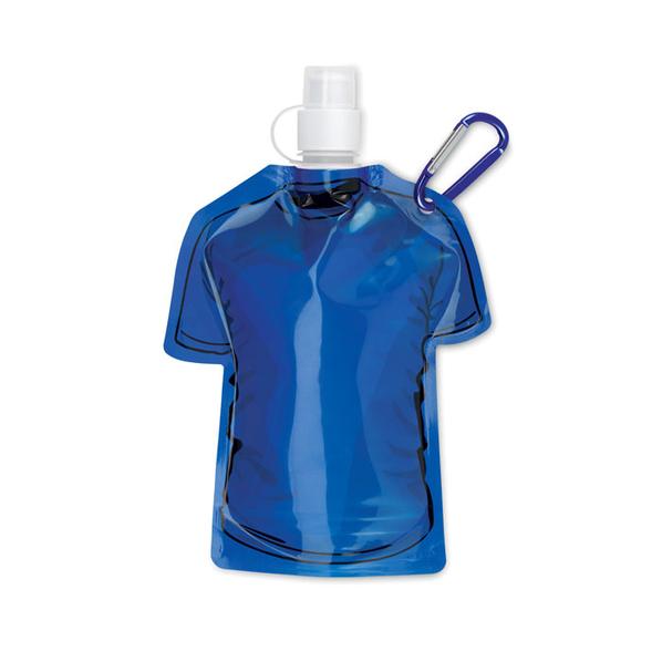 Бутылка складная в форме футболки 450мл, синий - фото № 1