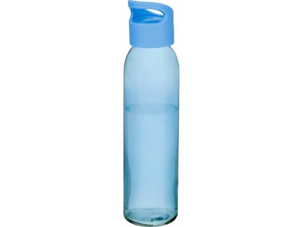 Бутылка спортивная стеклянная Sky, 500 мл, голубая - фото № 1