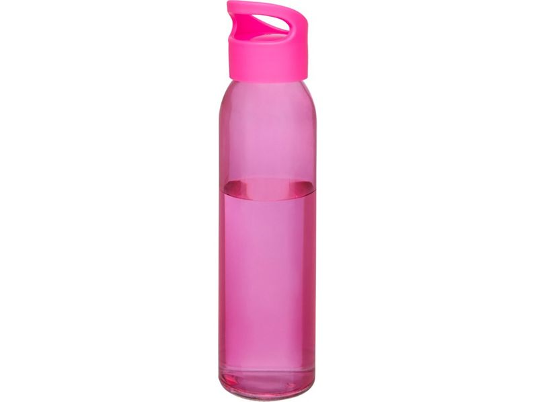 Бутылка спортивная стеклянная Sky, 500 мл, розовая - фото № 1