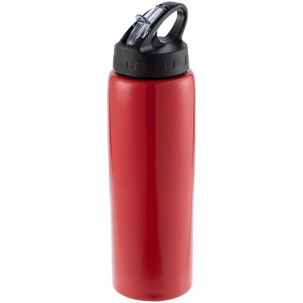Бутылка спортивная металлическая Moist, красная - фото № 1