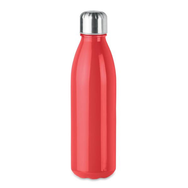 Бутылка стеклянная, красная, 500 мл - фото № 1