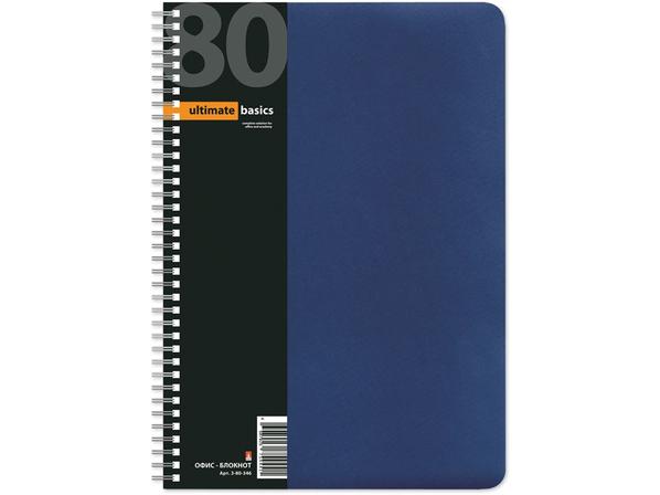 Бизнес-блокнот А4 Офис-Лайн, вертикальная пружина, синий - фото № 1