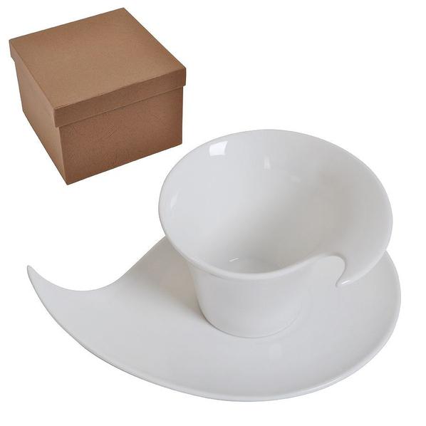 Чайная/кофейная пара Наваждение в подарочной упаковке, белый - фото № 1